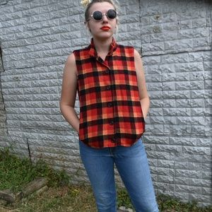 Vintage Windridge chervl nash plaid vest